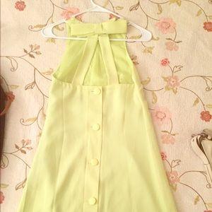 ASOS yellow shift dress